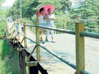 Sacarán el puente por el colector