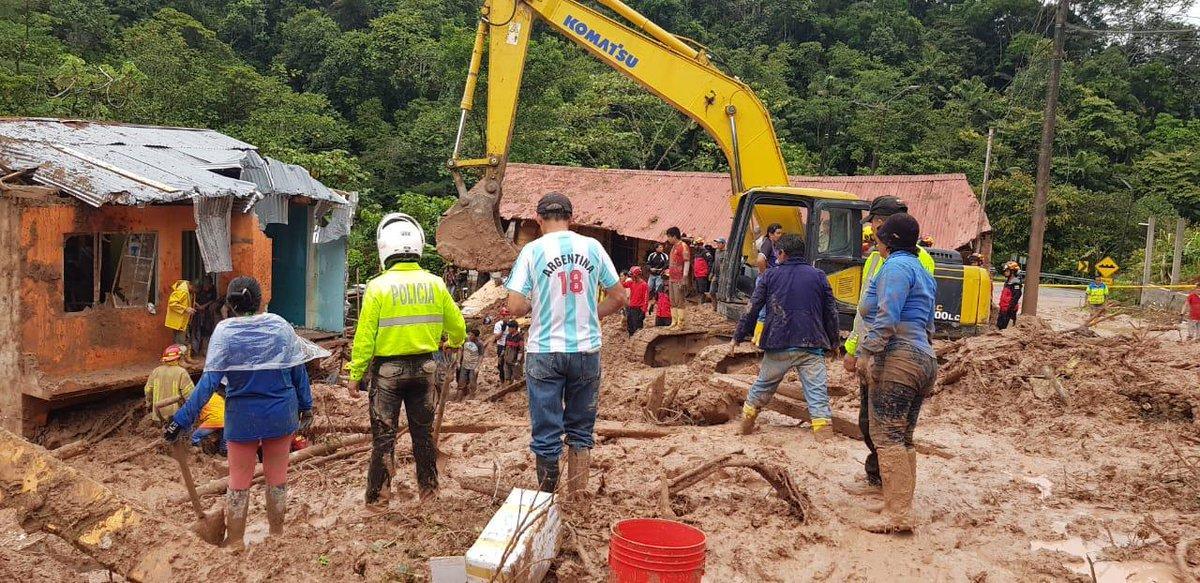 Continúan trabajos en zonas de deslizamiento que dejó nueve muertos
