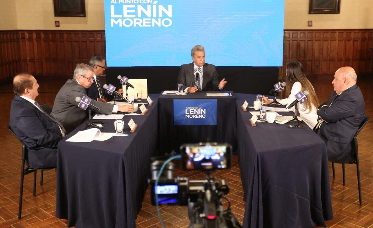 Moreno asegura que candidatos a vicepresidencia tienen un pasado transparente