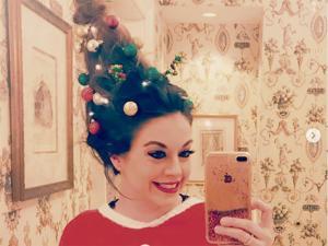 Peinados navideños son moda