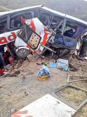 Al menos 19 muertos y 15 heridos en dos accidentes de tráfico en Bolivia