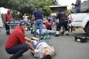 Realizan un simulacro de accidente de tránsito en Sucre