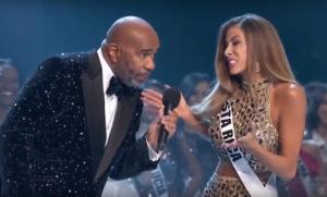 Miss Costa Rica 'trolea' en vivo al presentador de Miss Universo