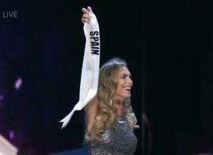 Miss España fue eliminada pero se despidió con una ovación del público