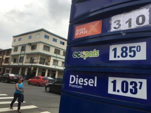 La gasolina Súper presenta un nuevo incremento en su precio