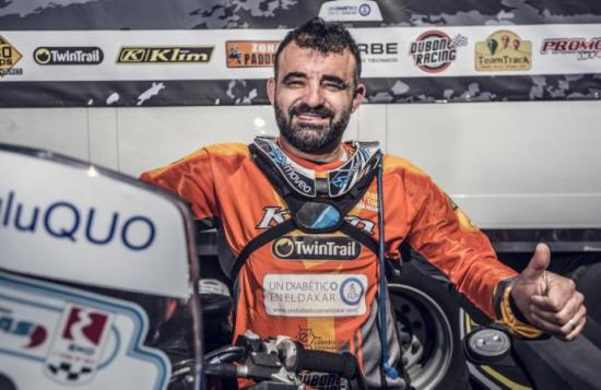 La fiebre y un resfriado sacan de carrera a primer piloto diabético del Dakar