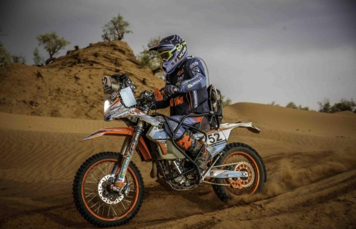 Abandona el Dakar su primer piloto parapléjico de motos