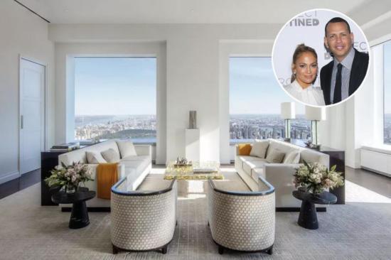 Jennifer López y Alex Rodríguez ponen a la venta departamento de lujo en Nueva York