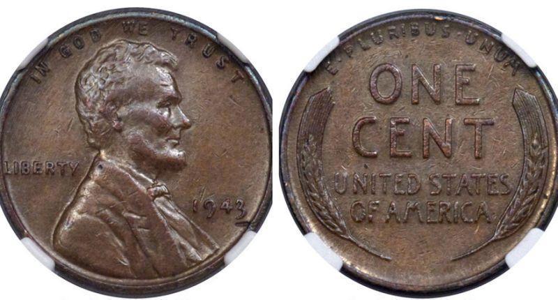 Un raro centavo estadounidense de 1943 se vende por más de 200.000 dólares