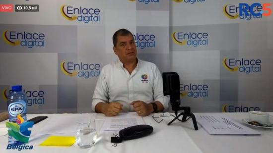 Expresidente Rafael Correa realiza Enlace Digital desde Bélgica
