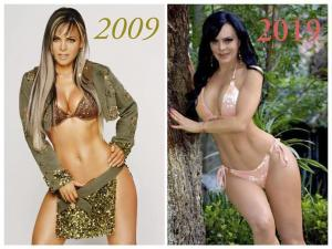 Maribel Guardia capta la atención mundial por su #10yearchallenge