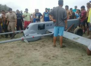 Avión no tripulado cae frente a las costas de Canoa