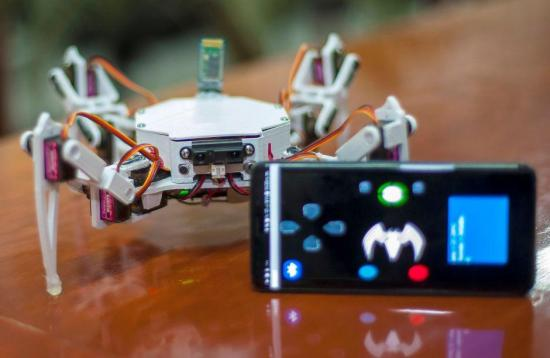 Crean en México un robot arácnido para la búsqueda y rescate de personas