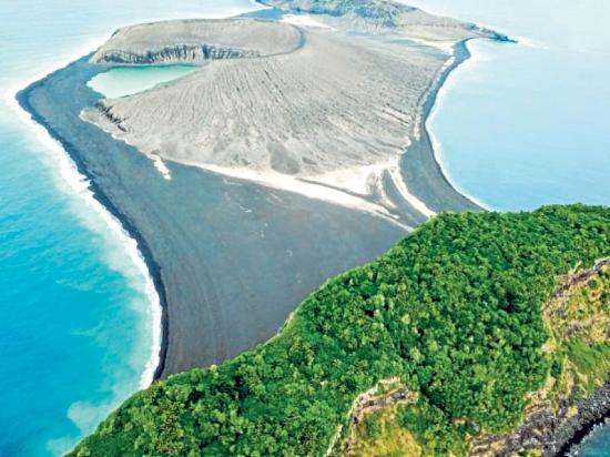 Isla volcánica ha resistido la erosión del océano