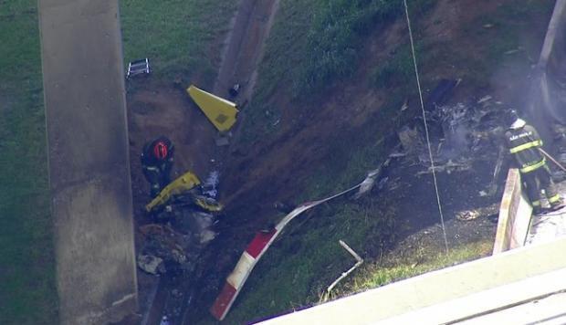 Dos muertos tras estrellarse un helicóptero en una carretera de Sao Paulo