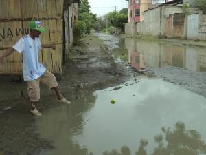 La lluvia ya deja problemas en San Alejo