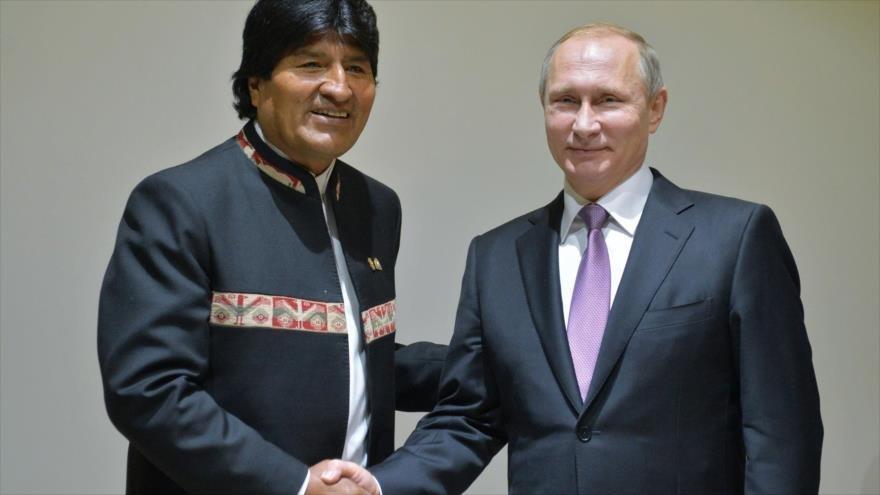 Putin invita a Evo Morales a una visita oficial a Rusia en julio