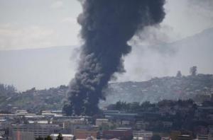 Un incendio afecta las instalaciones de la Empresa Eléctrica Quito