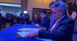 Moreno arremete contra Correa en firma de Declaración de Chapultepec
