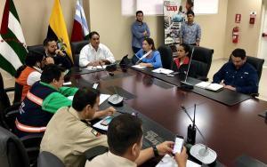 Se instala el COE Provincial de Manabí ante fuertes lluvias e inundaciones