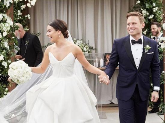 Lea Michele se casó el fin de semana con su amado novio Zandy Reich