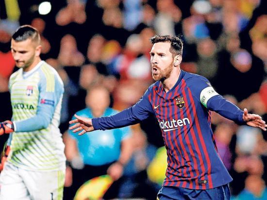 Messi lideró  la goleada