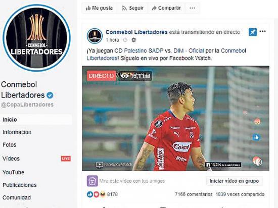 Partidos de Copa Libertadores se verán por Facebook cada jueves