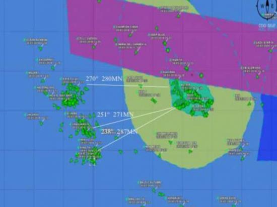 245 embarcaciones de bandera china acechan las Islas Galápagos