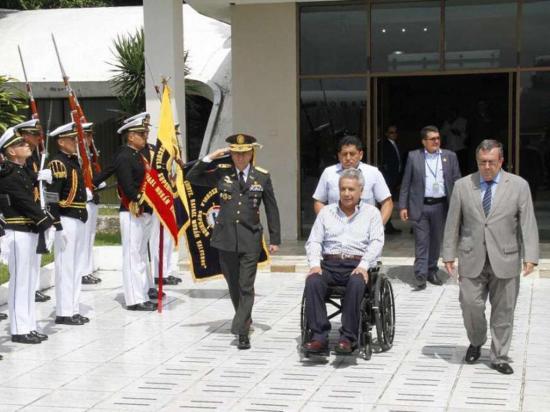 Moreno llegó anoche a Chile para asistir a un foro con otras naciones