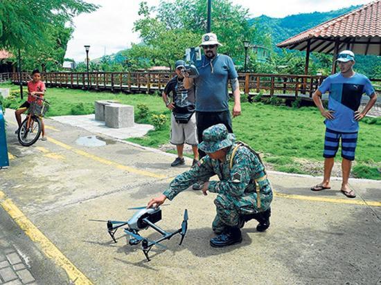 Con ayuda de un dron detectan las zonas críticas del río Grande