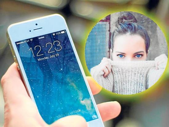 Ciega por usar el  celular