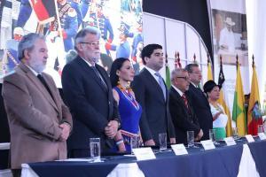 Autoridades del CNE inauguran en Quito la jornada electoral ''más compleja'' de la historia del país