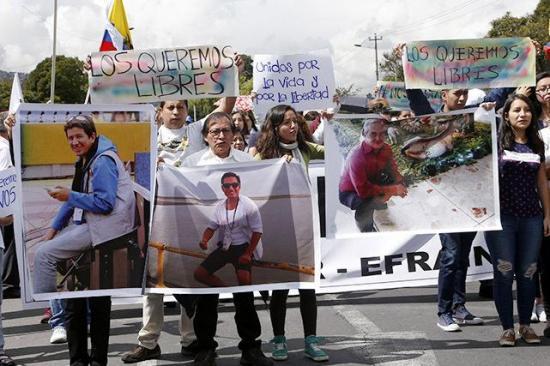 Muchas incógnitas abiertas en Ecuador a un año del secuestro de periodistas