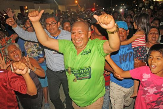 Con el 100% de actas escrutadas, Simetrio Calderón resulta ganador de la alcaldía de Jaramijó