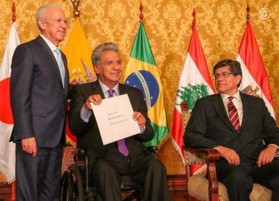 Presidente Moreno recibe credenciales de once embajadores incluido el de Guaidó