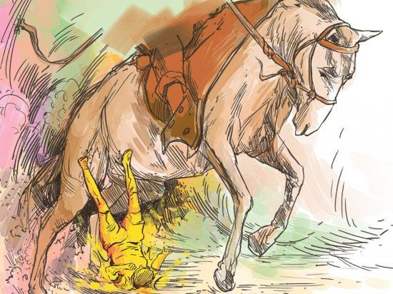 Hombre por subirse a un caballo se dañó el brazo izquierdo