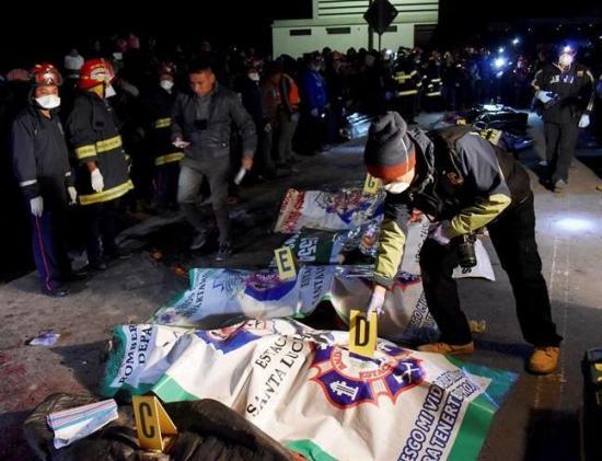 18 los muertos y 19 heridos por atropello en Guatemala
