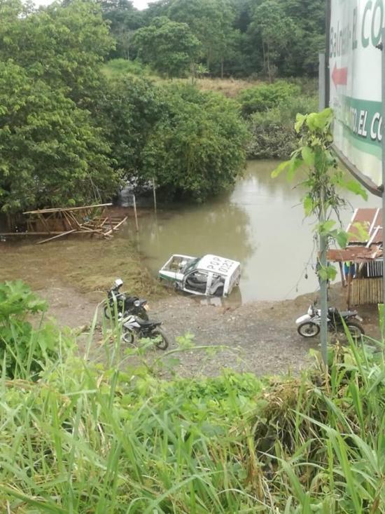 Una cabina apareció en  el río Congo