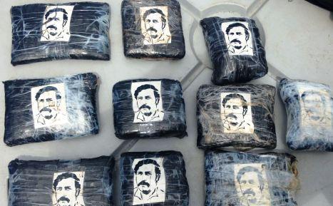 Decomisan en EE.UU. un cargamento de heroína marcado con foto de Pablo Escobar