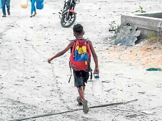 La crisis golpea fuerte a los niños de Venezuela
