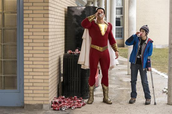 'Shazam' logra convertirse en el número uno en la taquilla estadounidense