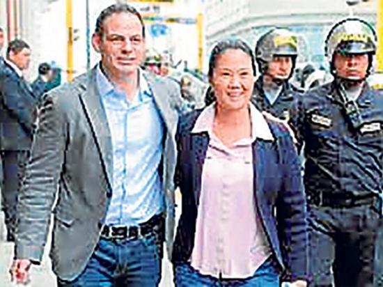 Prohíben salir de Perú al esposo de Keiko Fujimori por 31 meses