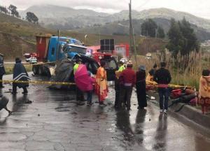 Cuatro de los fallecidos en accidente de tránsito en Chimborazo eran escaladores