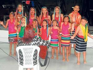 El tsáfiqui en el canto de los niños