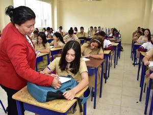 82 mil alumnos del bachillerato volvieron a las aulas de clases en Portoviejo