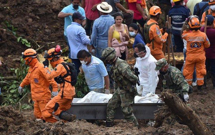 El Gobierno colombiano confirma que ya son 28 los fallecidos por derrumbe