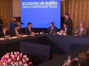 Lenín Moreno ofrece apoyar a Leonardo Orlando en favor de Manabí