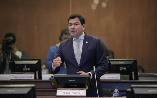 César Litardo es elegido presidente de la Asamblea Nacional con 78 votos