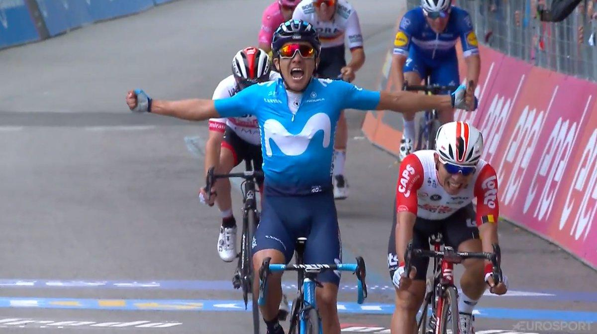 El ecuatoriano Richard Carapaz gana la cuarta etapa del Giro de Italia