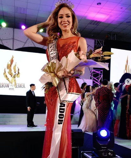 La manabita Susy Sacoto, tercera finalista del Miss Jewel Of The World 2019